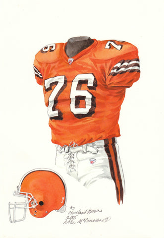 Cleveland Browns 2005 - Heritage Sports Art - original watercolor artwork - 1