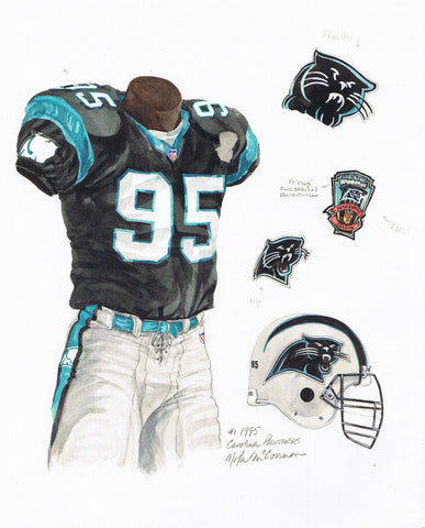 Carolina Panthers 1995 - Heritage Sports Art - original watercolor artwork - 1