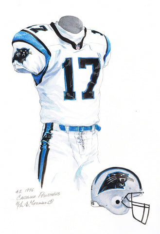 Carolina Panthers 1996 - Heritage Sports Art - original watercolor artwork - 1