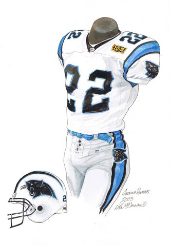 Carolina Panthers 2003 - Heritage Sports Art - original watercolor artwork - 1