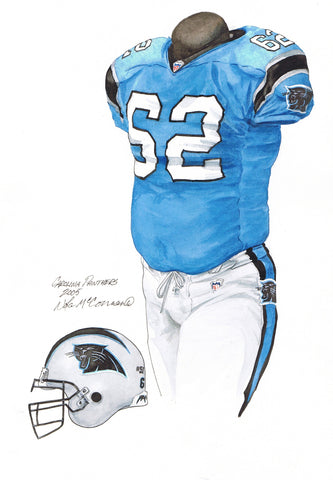Carolina Panthers 2005 - Heritage Sports Art - original watercolor artwork - 1