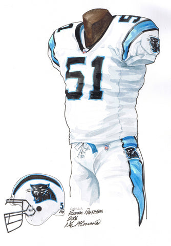 Carolina Panthers 2006 - Heritage Sports Art - original watercolor artwork - 1