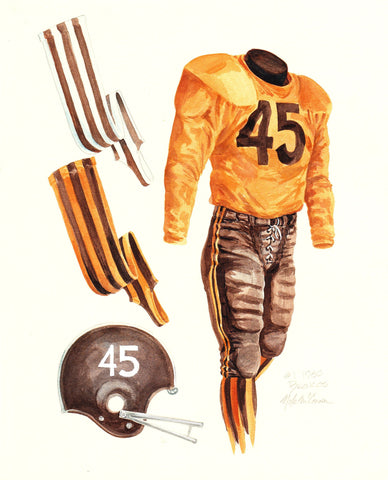 Denver Broncos 1960 - Heritage Sports Art - original watercolor artwork - 1