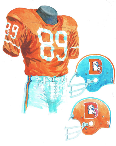 Denver Broncos 1968 - Heritage Sports Art - original watercolor artwork - 1