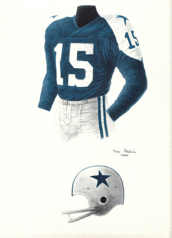 Dallas Cowboys 1960 - Heritage Sports Art - original watercolor artwork - 1