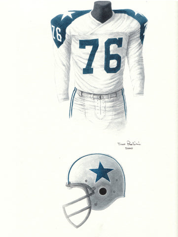 Dallas Cowboys 1962 - Heritage Sports Art - original watercolor artwork - 1