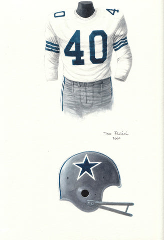 Dallas Cowboys 1965 - Heritage Sports Art - original watercolor artwork - 1