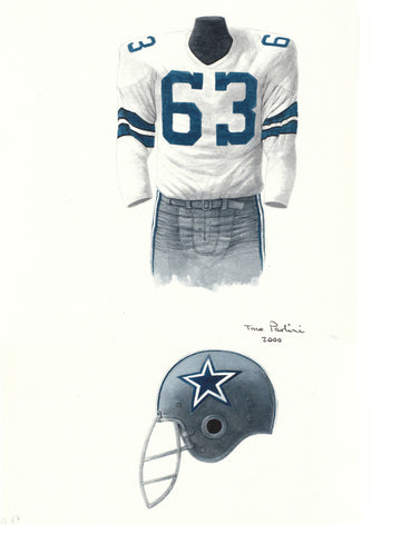 Dallas Cowboys 1967 - Heritage Sports Art - original watercolor artwork - 1