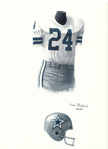 Dallas Cowboys 1971 - Heritage Sports Art - original watercolor artwork - 1