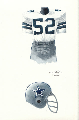 Dallas Cowboys 1977 - Heritage Sports Art - original watercolor artwork - 1