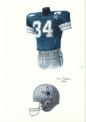 Dallas Cowboys 1984 - Heritage Sports Art - original watercolor artwork - 1