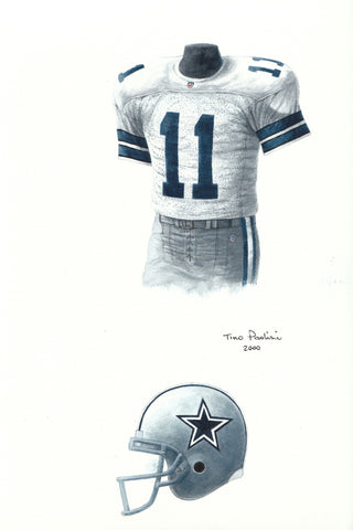Dallas Cowboys 1992 - Heritage Sports Art - original watercolor artwork - 1