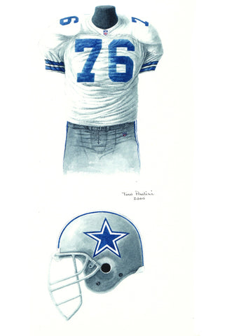 Dallas Cowboys 1993 - Heritage Sports Art - original watercolor artwork - 1