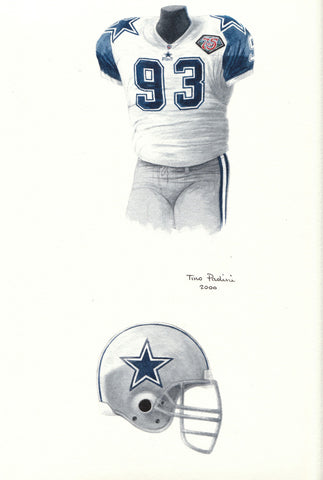 Dallas Cowboys 1994 - Heritage Sports Art - original watercolor artwork - 1