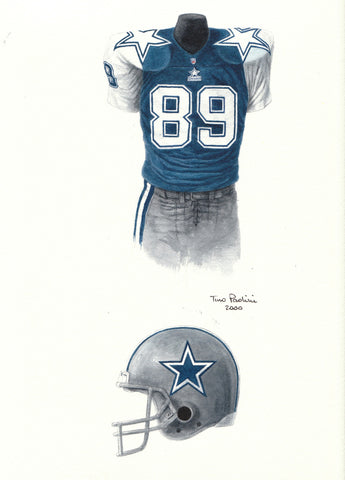 Dallas Cowboys 1995 - Heritage Sports Art - original watercolor artwork - 1