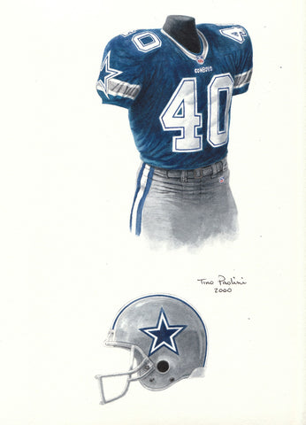 Dallas Cowboys 2000 - Heritage Sports Art - original watercolor artwork - 1