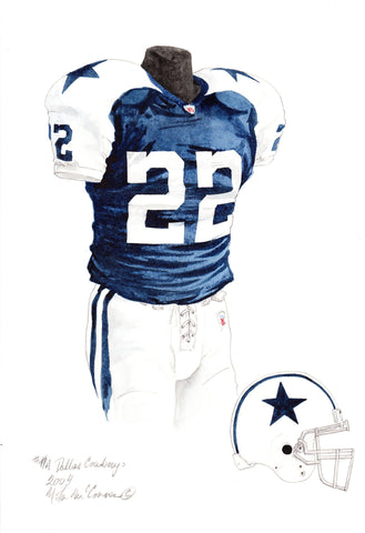 Dallas Cowboys 2004 - Heritage Sports Art - original watercolor artwork - 1