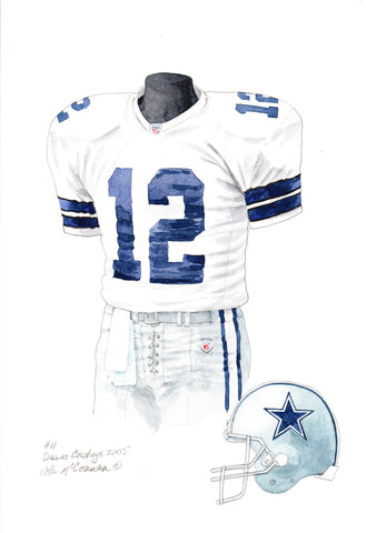 Dallas Cowboys 2005 - Heritage Sports Art - original watercolor artwork - 1