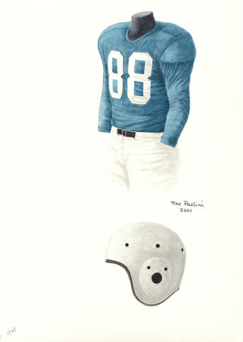 Detroit Lions 1949 - Heritage Sports Art - original watercolor artwork - 1