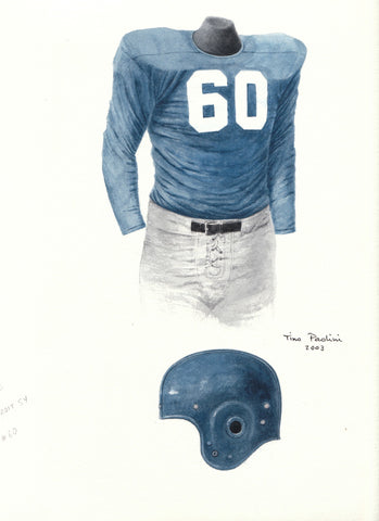 Detroit Lions 1954 - Heritage Sports Art - original watercolor artwork - 1