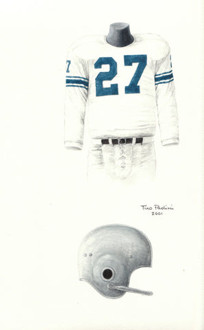 Detroit Lions 1957 - Heritage Sports Art - original watercolor artwork - 1