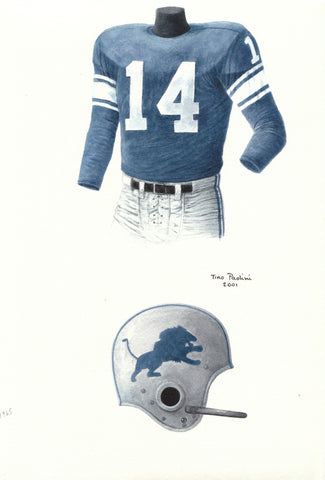 Detroit Lions 1965 - Heritage Sports Art - original watercolor artwork - 1