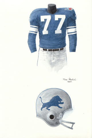 Detroit Lions 1969 - Heritage Sports Art - original watercolor artwork - 1