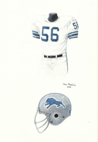 Detroit Lions 1974 - Heritage Sports Art - original watercolor artwork - 1