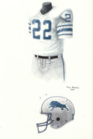 Detroit Lions 1980 - Heritage Sports Art - original watercolor artwork - 1