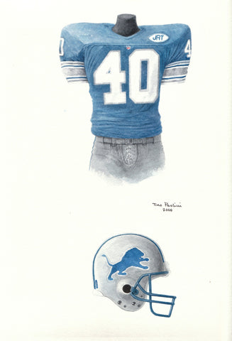 Detroit Lions 1991 - Heritage Sports Art - original watercolor artwork - 1