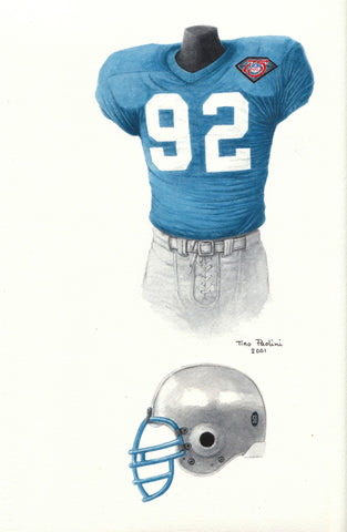 Detroit Lions 1994 - Heritage Sports Art - original watercolor artwork - 1