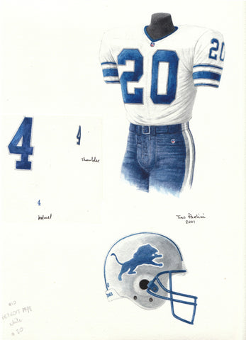 Detroit Lions 1998 - Heritage Sports Art - original watercolor artwork - 1
