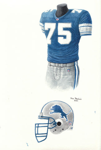 Detroit Lions 2000 - Heritage Sports Art - original watercolor artwork - 1