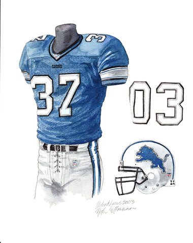Detroit Lions 2003 - Heritage Sports Art - original watercolor artwork - 1