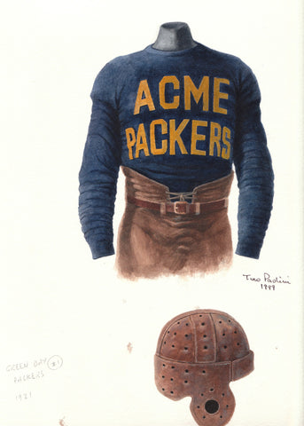 Green Bay Packers 1921 - Heritage Sports Art - original watercolor artwork - 1