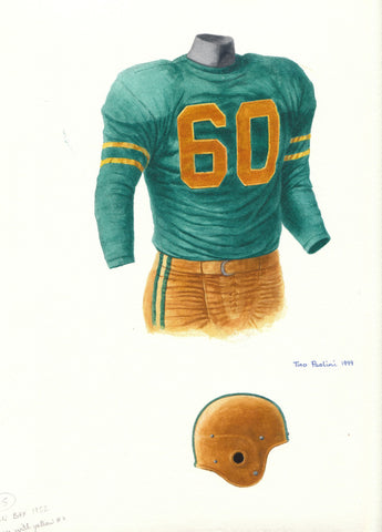 Green Bay Packers 1952 - Heritage Sports Art - original watercolor artwork - 1