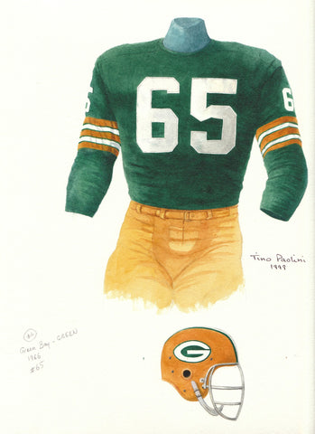 Green Bay Packers 1966 - Heritage Sports Art - original watercolor artwork - 1