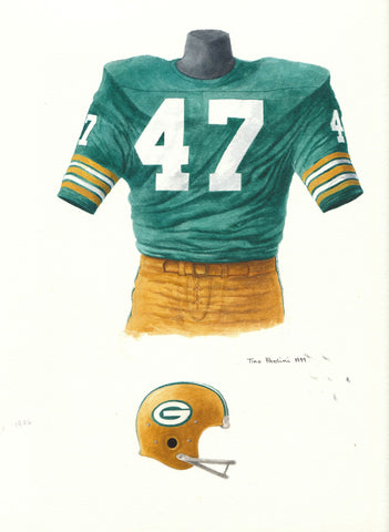 Green Bay Packers 1976 - Heritage Sports Art - original watercolor artwork - 1