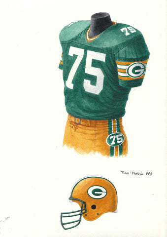 Green Bay Packers 1984 - Heritage Sports Art - original watercolor artwork - 1