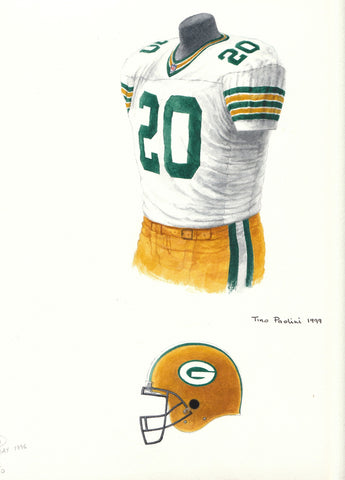 Green Bay Packers 1996 - Heritage Sports Art - original watercolor artwork - 1