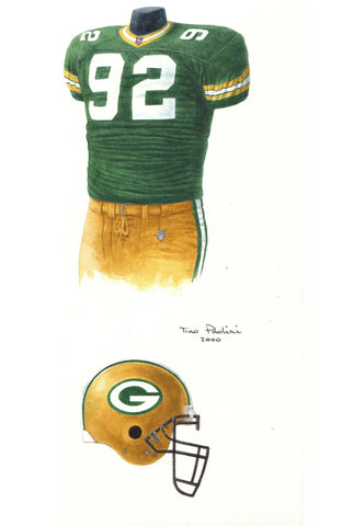 Green Bay Packers 2000 - Heritage Sports Art - original watercolor artwork - 1