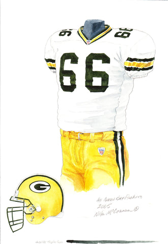 Green Bay Packers 2005 - Heritage Sports Art - original watercolor artwork - 1