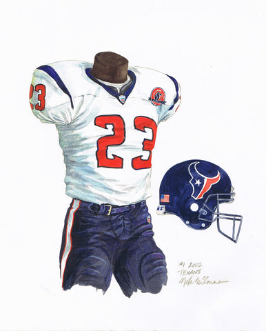 Houston Texans 2002 - Heritage Sports Art - original watercolor artwork - 1