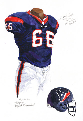 Houston Texans 2003 - Heritage Sports Art - original watercolor artwork - 1