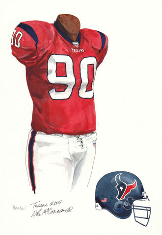 Houston Texans 2004 - Heritage Sports Art - original watercolor artwork - 1