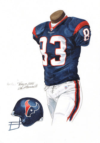 Houston Texans 2006 - Heritage Sports Art - original watercolor artwork - 1