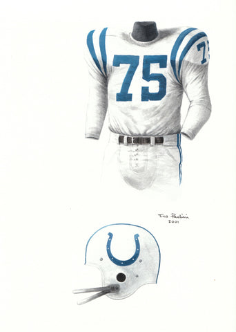 Indianapolis Colts 1958 - Heritage Sports Art - original watercolor artwork - 1