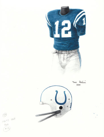 Indianapolis Colts 1968 - Heritage Sports Art - original watercolor artwork - 1