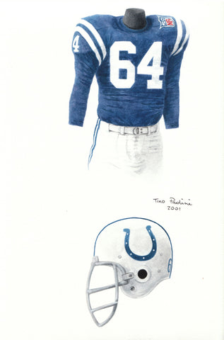 Indianapolis Colts 1969 - Heritage Sports Art - original watercolor artwork - 1