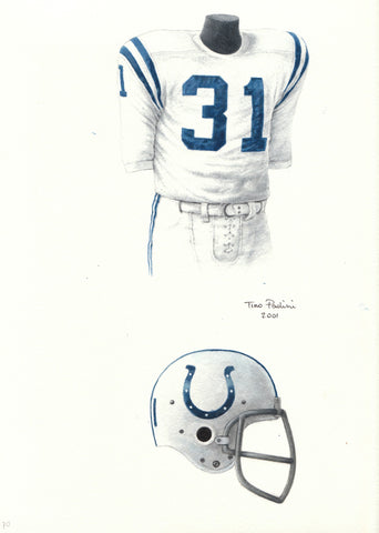 Indianapolis Colts 1970 - Heritage Sports Art - original watercolor artwork - 1